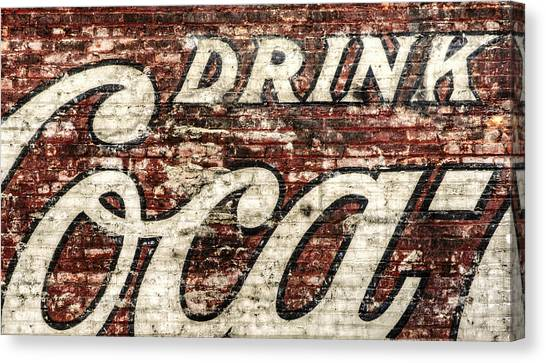 Vintage Canvas Print - Drink Coca-cola 2 by Scott Norris