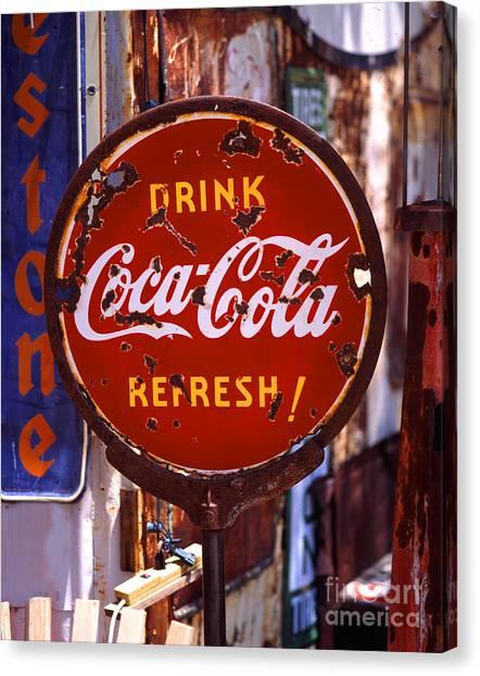 Drink Coca-cola Sign Canvas Print