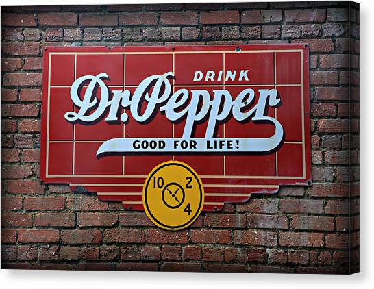 Dr. Pepper Canvas Print - Drink Dr. Pepper - Good For Life by Stephen Stookey