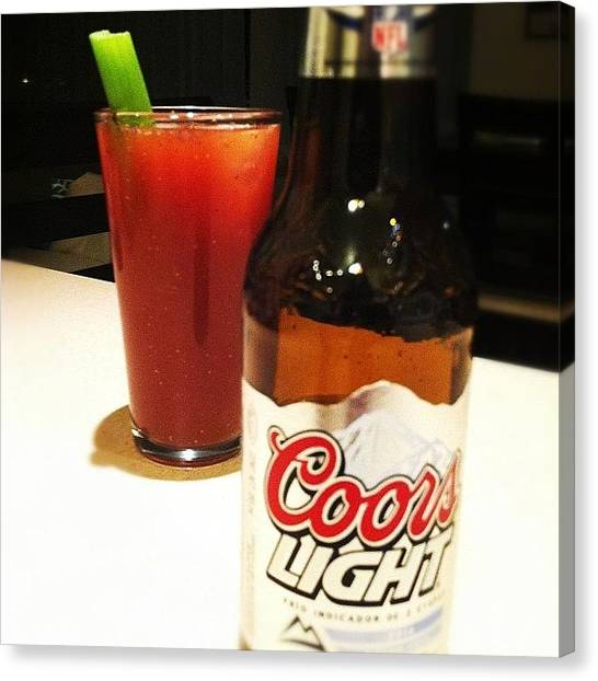 Beer Can Canvas Print - #drink #drinks #slurp #tagsforlikes by Uriel Gonzalez