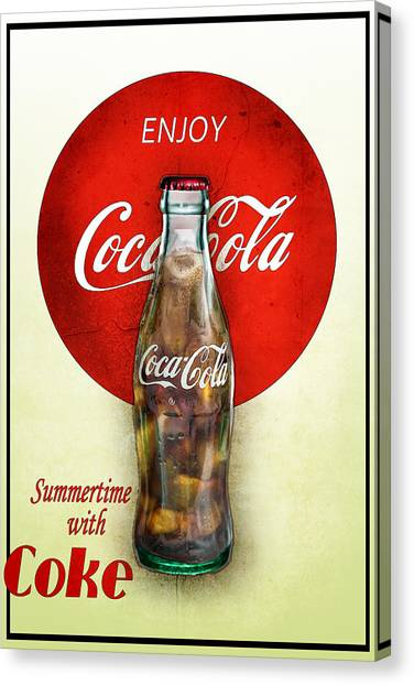 Drink Ice Cold Coke 2 Canvas Print