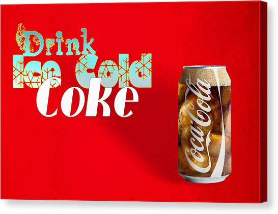 Drink Ice Cold Coke 3 Canvas Print