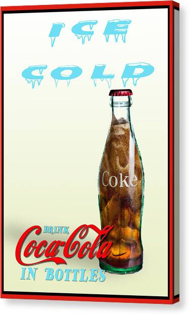 Drink Ice Cold Coke Canvas Print