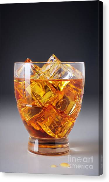Cognac Canvas Print - Drink On Ice by Carlos Caetano