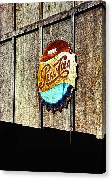 Drink Pepsi Cola Canvas Print by Ron Regalado