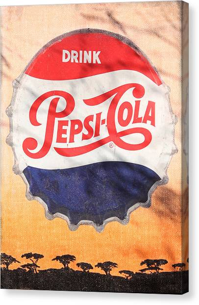 Drinks Canvas Print - Drink Pepsi  by Donna Kennedy