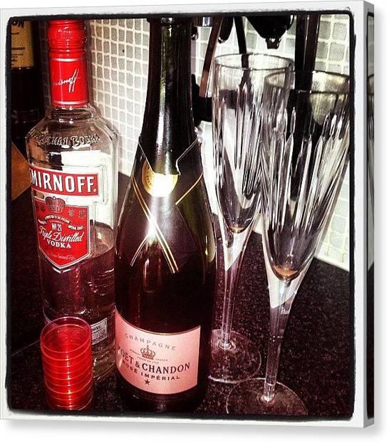 Vodka Canvas Print - #drinks #fun #night #messy #moet by Laura Baddeley