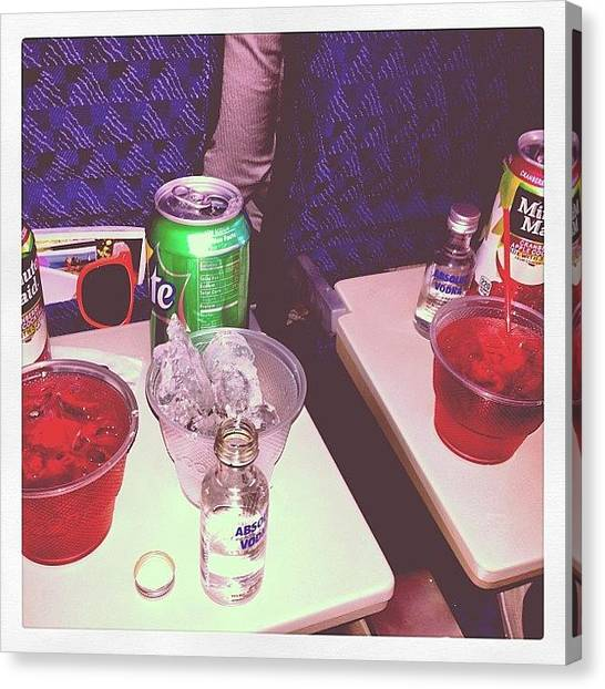 Submarine Canvas Print - #drinks On The Way Back To #newyork by Nikki Beirne
