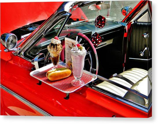 Drive-in Diner Canvas Print