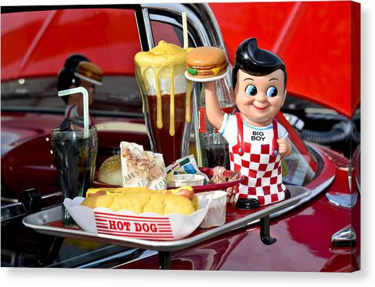 Drive-in Food Classic Canvas Print