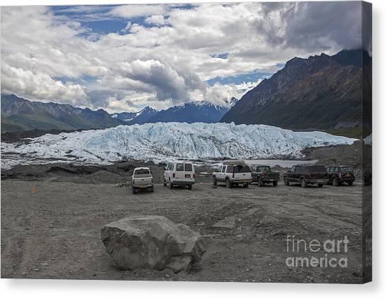 Drive In Glacier Canvas Print