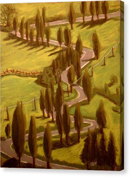 Drive Through Italy Canvas Print