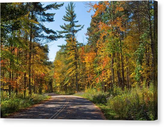 Drive Through Splendor In Minnesota Canvas Print
