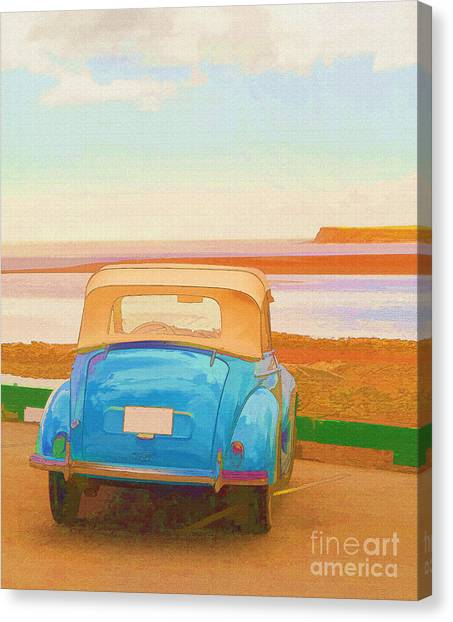 Prince Edward Island Canvas Print - Drive To The Shore by Edward Fielding