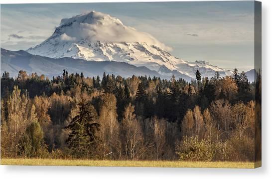 Drive'n Round Mt Rainier Canvas Print
