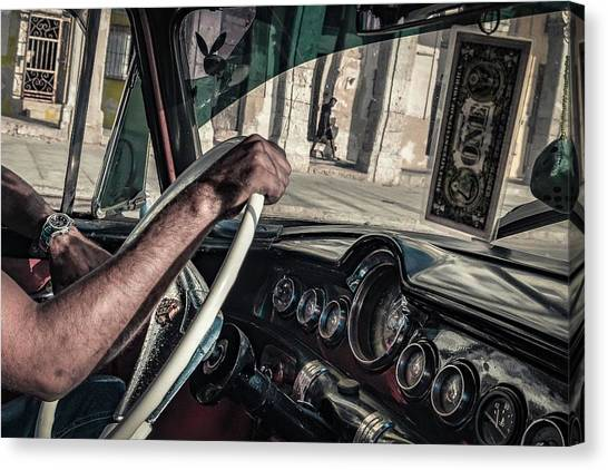 Driving Canvas Print - Driver by Andreas Bauer