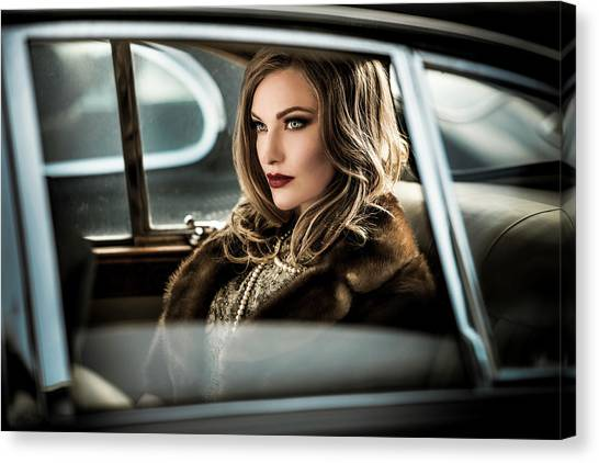 Necklace Canvas Print - Driving The Diva To The Event.... by Peter M?ller Photography
