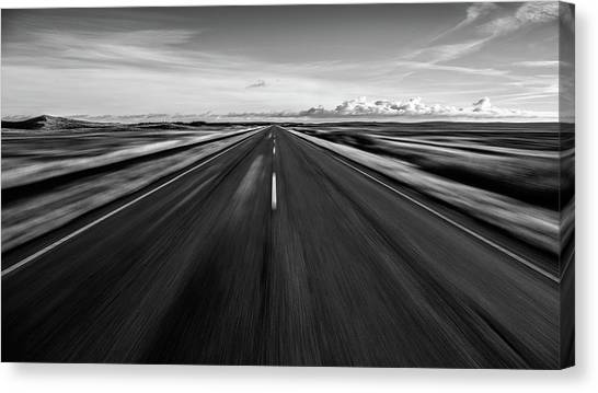 Driving Canvas Print - Driving West Coast. by Leif L?ndal