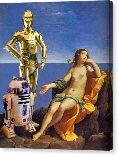 Droid Canvas Print - Droids And Ariadne  by Tony Leone