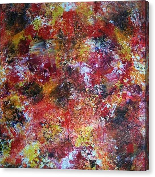 Expressionism Canvas Print - Drop In Time by Stephen Lock