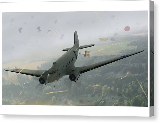 Paratroopers Canvas Print - Drop Zone Victor by Hangar B Productions