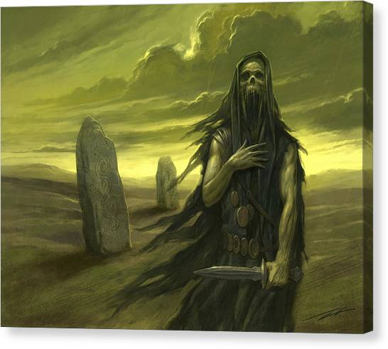 World Of Warcraft Canvas Print - Druid Ghost by Alan Lathwell