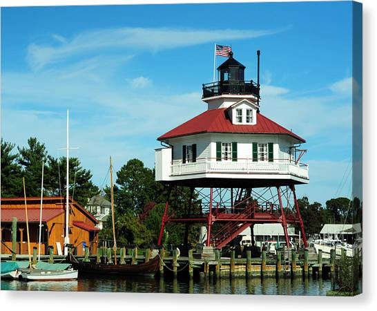 Drum Point Lighthouse Canvas Print