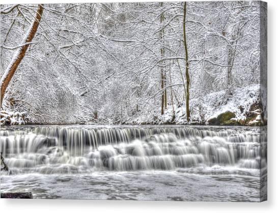 Dry Creek Winter Canvas Print