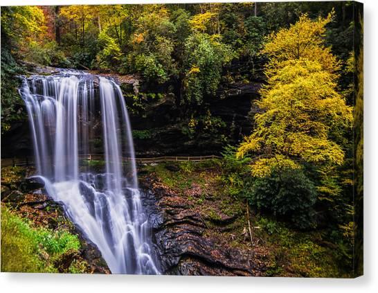 Dry Falls Along The Cullasaja River Canvas Print