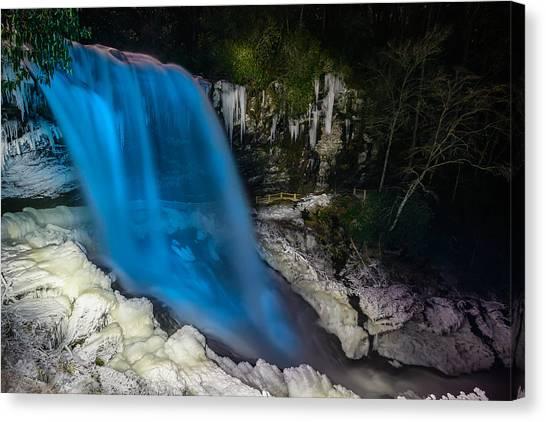 Dry Falls At Night Canvas Print