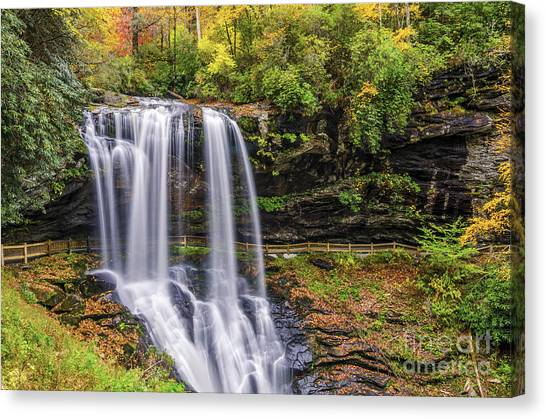 Dry Falls In Fall Canvas Print