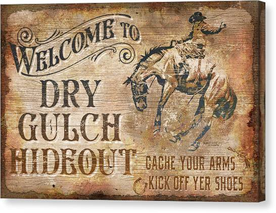 Horse Farms Canvas Print - Dry Gulch Hideout by JQ Licensing