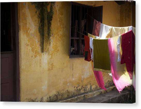 Drying In The Sun Canvas Print