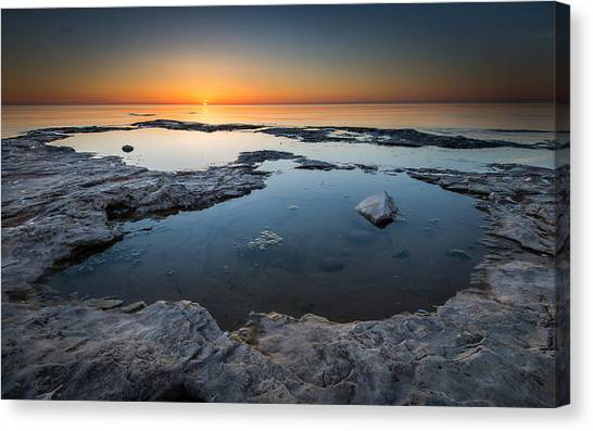 Dual Pool Canvas Print