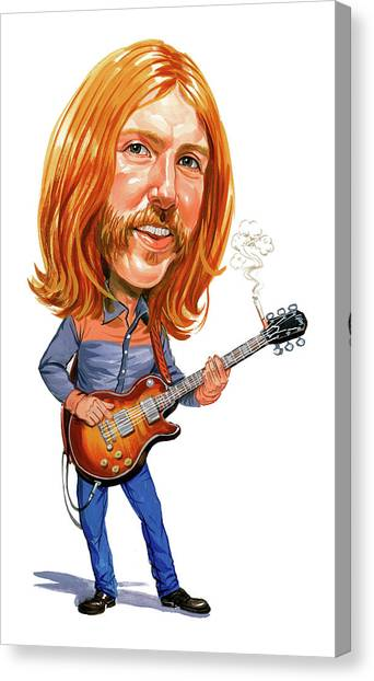 Laugh Canvas Print - Duane Allman by Art