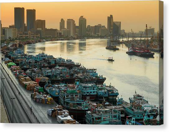 Dubai Creek Canvas Print by © Naufal Mq