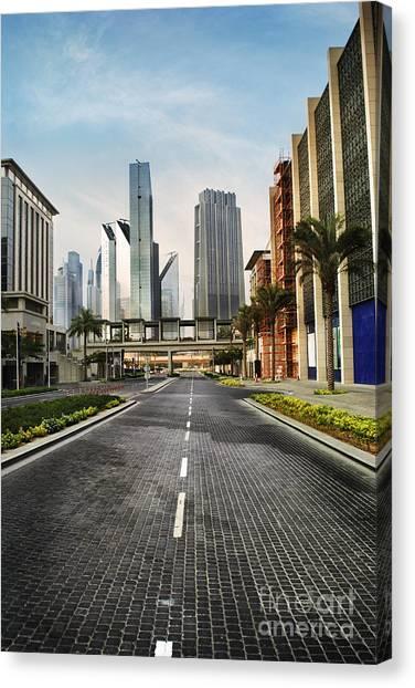 Dubai Skyline Canvas Print - Dubai by Jelena Jovanovic