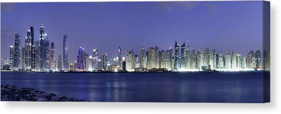 Dubai Skyline Canvas Print - Dubai Panoramic by Robert Work