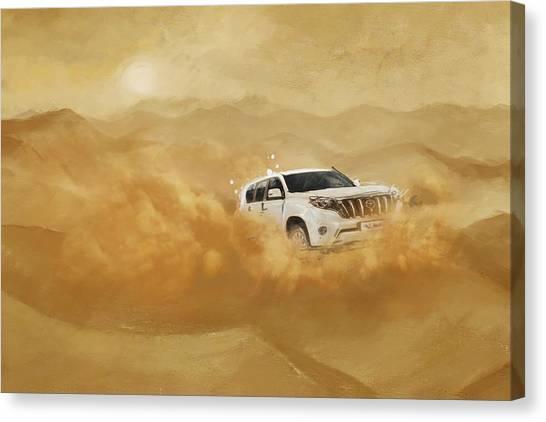 Dubai Skyline Canvas Print - Dubai Safari  by Corporate Art Task Force