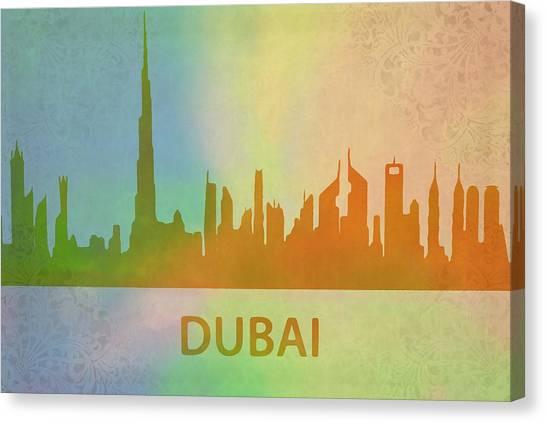 Dubai Skyline Canvas Print - Dubai Skyline by Dan Sproul