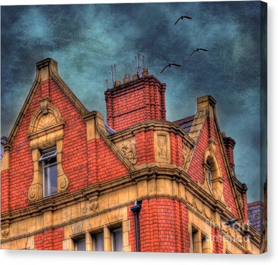 Brick House Canvas Print - Dublin House Roof Top by Juli Scalzi