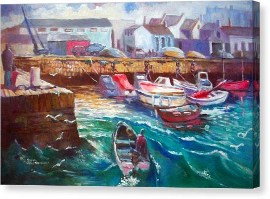 Dublin Ireland Bullock Harbour Canvas Print
