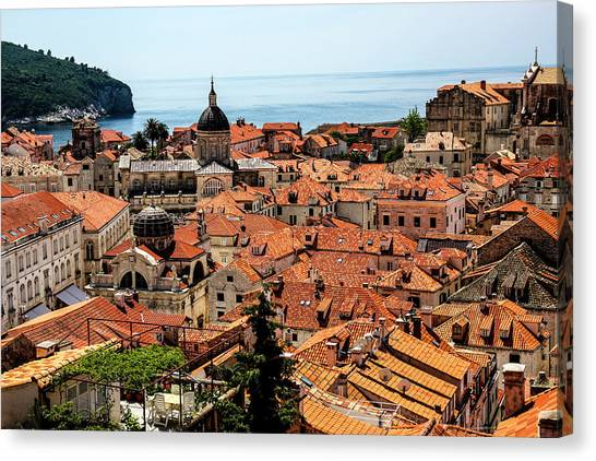 Byzantine Art Canvas Print - Dubrovnik, Croatia by Jolly Sienda