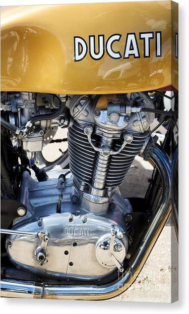 Ducati Canvas Print - Ducati Desmo Mk 3 450cc by Tim Gainey