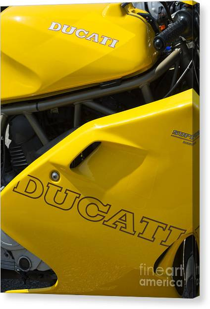Ducati Canvas Print - Ducati Desmodue Motorcycle  by Tim Gainey