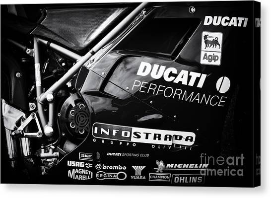 Ducati Canvas Print - Ducati Performance by Tim Gainey