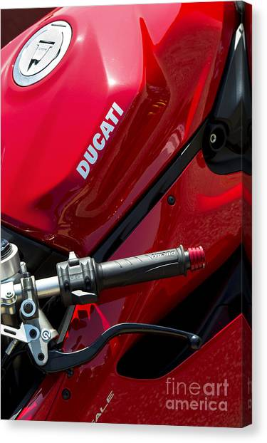 Ducati Canvas Print - Ducati Red by Tim Gainey