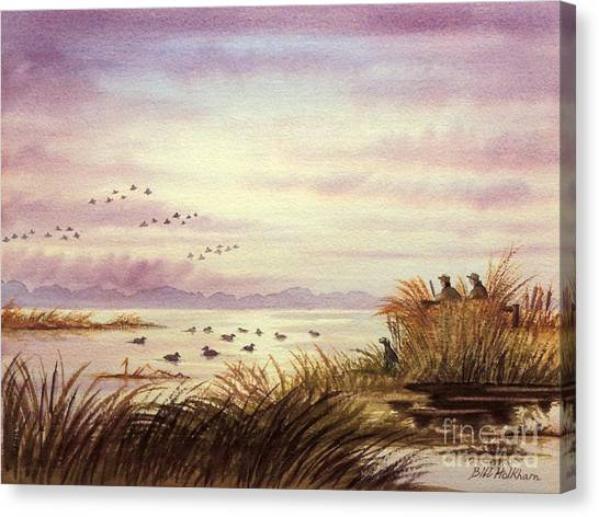 Duck Hunting Companions Canvas Print