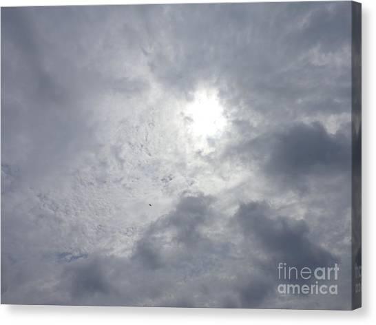 Duck In Beautiful Sky Canvas Print