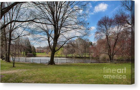 Haverford Canvas Print - Duck Pond Haverford College by Kay Pickens